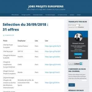 Jobs Projets Européens