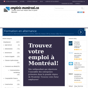 Emploi Montreal