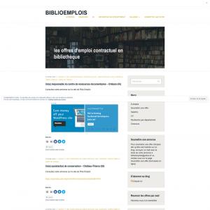 Page Web Biblioemplois