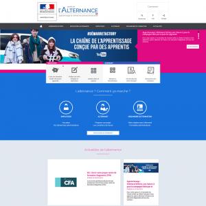 Page web du Portail de l'alternance