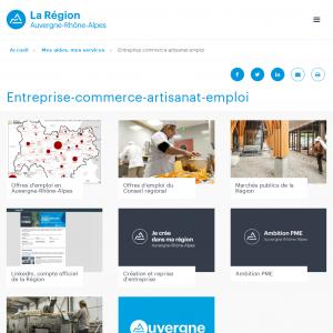 Région Auvergne aides aux entreprises