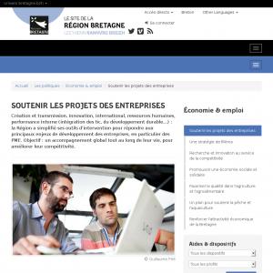 Région Bretagne Aides aux entreprises