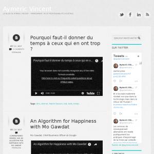 Le blog de Aymeric Vincent