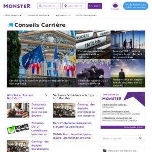 Monster: blog pour l'emploi