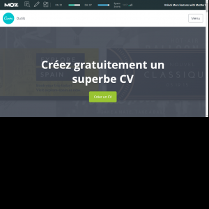 page accueil Canva