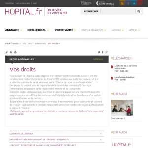 Hôpital.fr : Vos droits